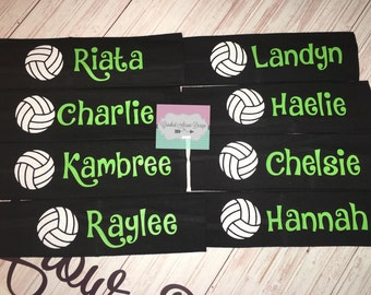 Volleyball headbands, Volleyball team headbands, Sports headband, Volleyball team, Team Gift