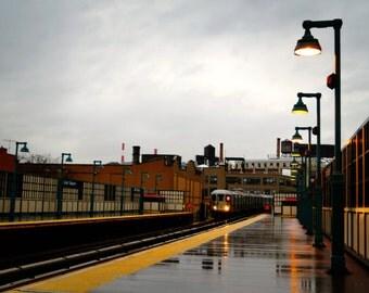 New York Subway, 7 Train, NYC Subway Train Photography Print, New York City Wall Art, Queens Photo