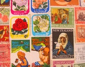 Kiwi Kissed 50 Vintage New Zealand Postage Stamps Aotearoa Aukland Wellington Christchurch Maori Dunedin Otago British Territories Philately