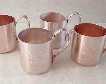 8 Mule Smirnoff Vodka 1960's Drinking Cups made in Hong Kong Graduation or Father's day Gift Idea Anodized Aluminum Advertising