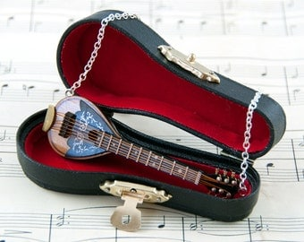 Mandolin Necklace - Mandolin Gift - Music Jewellery