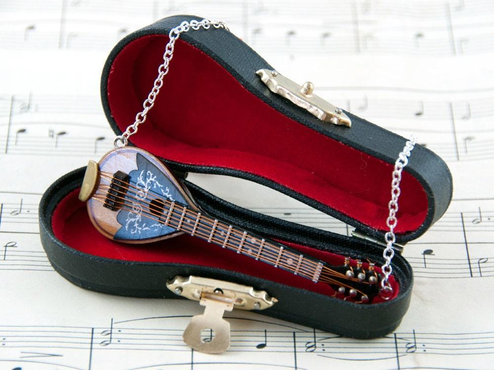 Mandolin Necklace - Mandolin Gift - Music Jewellery