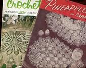 2 Crochet Patterns books