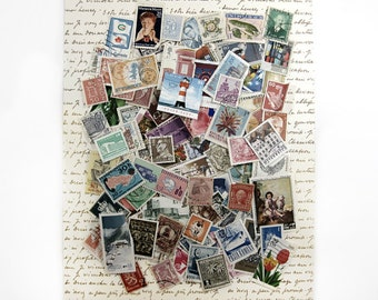 100 International Postage Stamps