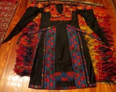 Outrageous Vintage Hand Made/Hand Embroidered Bedouin Dress