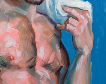 Disgustingly Good Looking, 11x14 inches oil on masonite, by Kenney Mencher