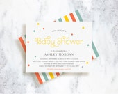 Baby Shower Invitations - Sprinkle - Choose Your Colors
