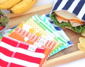 Rainbow snack and sandwich bag assortment 10 bags- Party favors - class gifts- birthday - FREE US SHIPPING