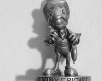 Jiminy in Pewter, Name on Front! So Tiny But Loaded With Intricate Details! Adorable!