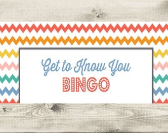 Get to Know You Bingo Instant Download