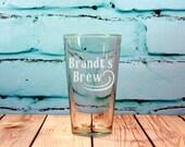 Custom Engraved Pint Glasses Set of 4, Home Brewer Gift, Micro Brewer, Beer Tasting, Beer Flight, Basement Bar, Man Cave Bar, Beer Gift
