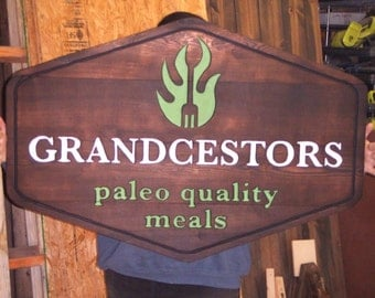 Custom painted carved wood sign - personalized for home, garden, wedding, anniversary or business - reclaimed  western cedar