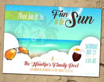 Summer Party Invitation *Digital Download*