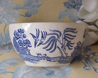 Old Vintage Blue Willow Rice Bowl