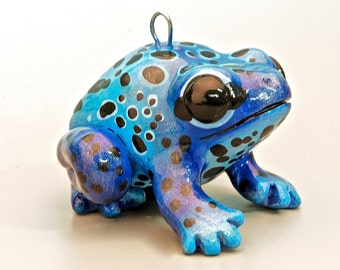 Blue Poison Dart Frog Ornament LIMITED EDITION OF 4