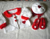 Little Sweetheart Sweater Set in Size 2-3 (RESERVED for Lorena)