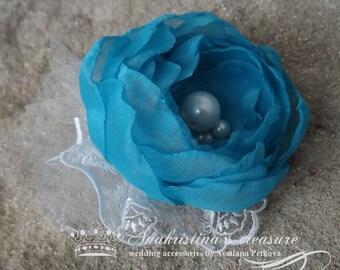 Bridal Fascinator,Wedding Headpiece,Something Blue