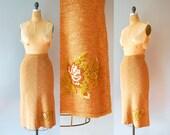 Knit Skirt / Ronit Zilkha Skirt / Emroidered Skirt