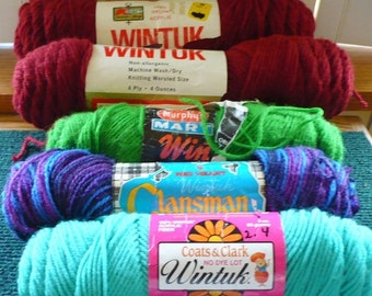 Save 10% 5 - Assorted Wintuk Yarn - See Description