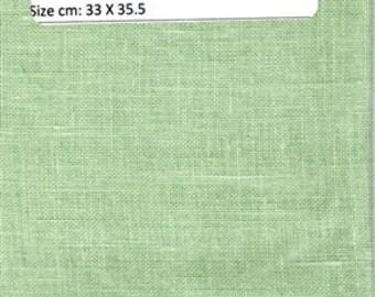 GT 139 -Zweigart Belfast Linen,32 Count,  Mint Green, 13 X 14 Inches,33 X 35.5 cm, Cut Fabric Collection