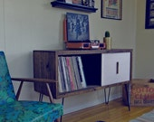 Custom Large Record Cabinet w/ divider