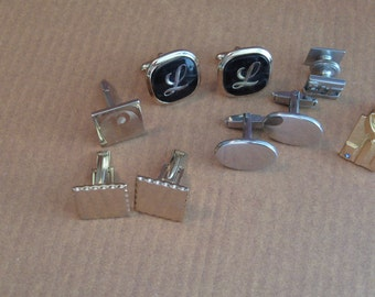 Vintage Cuff Links Destash Lot to Recycle, Collect, Repurpose, Craft, Mixed Media