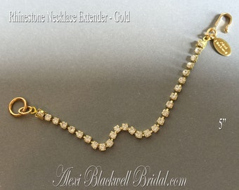 Necklace Extender Gold Rhinestone Chain to lengthen your antique vintage necklaces rhinestone necklaces so you can wear them comfortably