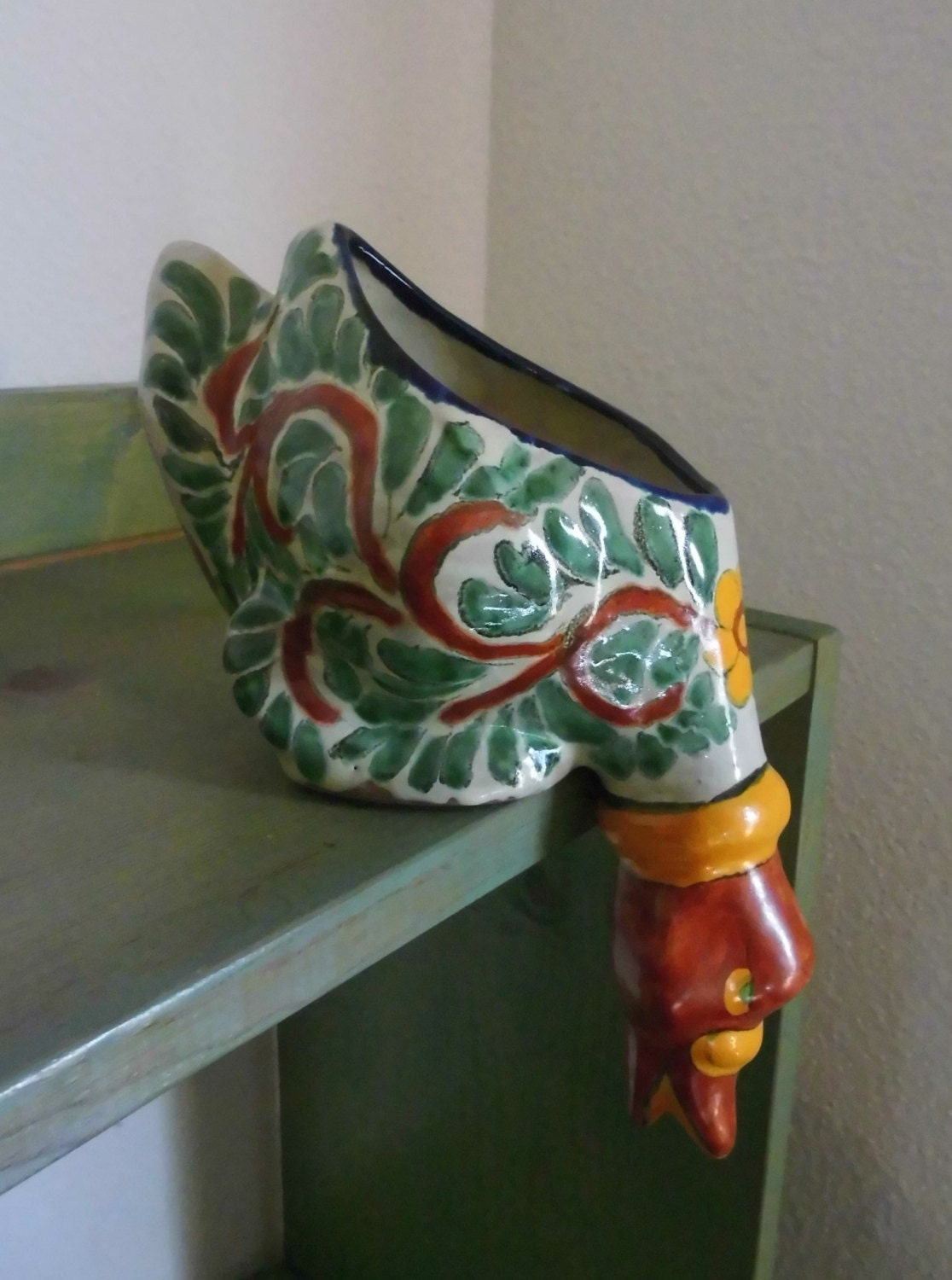Vintage Talavera Mexican Pottery Duck This Is A Duck