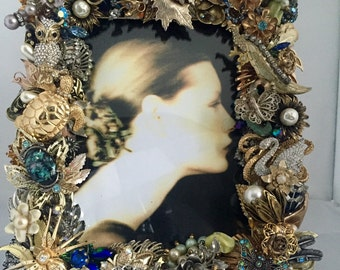 Latest and Most Amazing Vintage Jewel Encrusted and Embellished Picture Frame