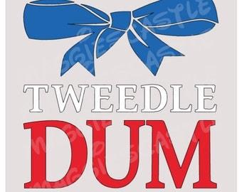 DIY Vinyl Iron On - Tweedle Dum Disney Decal