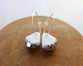 Luster Gem Hoop Earrings...