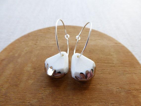 Luster Gem Hoop Earrings
