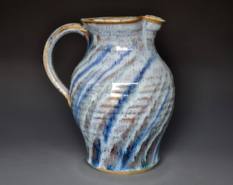 Pottery Pitcher Ceramic Pitcher Stoneware Pitcher Handmade Pitcher Jug A