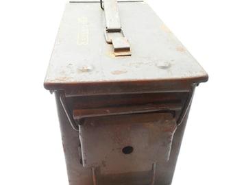 Vintage Metal Ammunition Box