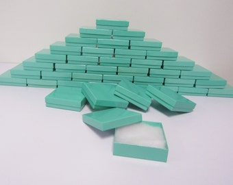 100 Pack Teal Blue Boxes (3.5 x 3.5 x 1 in) // ECONOMY SIZE //