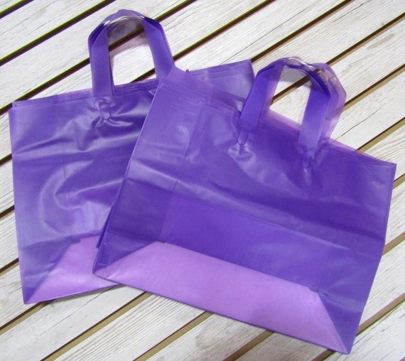 20 Pack Purple Soft Loop Handle Bags (16 x 11.5 in.) // BOUTIQUE CHIC //