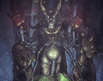 PRINT - WITCH MOTHER - Strange Monster Demon Odd Art Print