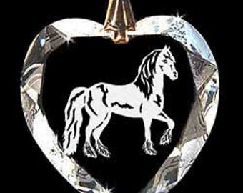 Friesian Horse Custom Made Crystal Necklace Pendant Jewelry made with any Animal or Name YOU Want, Great gift 4H, FFA, Horse Lover, Rodeo