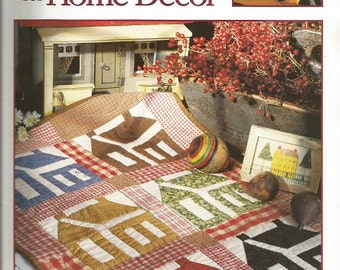 """Better Homes and Gardens """"Quilting for Home Decor"""" Quilt Book"""