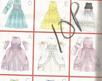 Butterick 6848 Girls 9 Options Evening Dress SZ 6-8.   CLEARANCE PATTERN