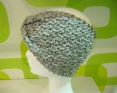 Boho Style Crochet Wool  Gray  Turbans,Crochet Knitting Gray  Headband,Gray  Wool Turbans.