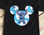 Stitch Mickey Mouse Inspired Iron On Applique