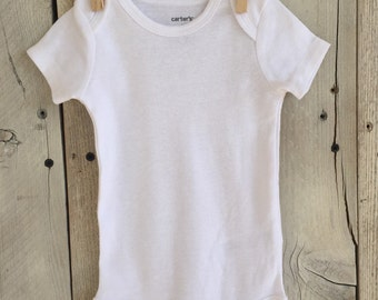 Upgrade to a Finished Short Sleeved Bodysuit Ironed and Sewn on Applique of Your Choice