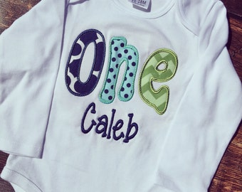 One Birthday Shirt, Custom Birthday Shirt, 1-9 Written Birthday Shirt, Custom One Birthday Shirt, Custom Age Birthday Shirt, Cute Birthday