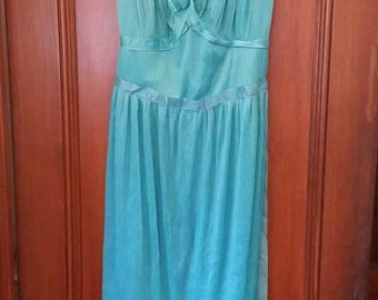 Vintage Mary Barron Night Gown Nightgown Grecian Size 36 Wedding Night Something Old As Is Made in the USA