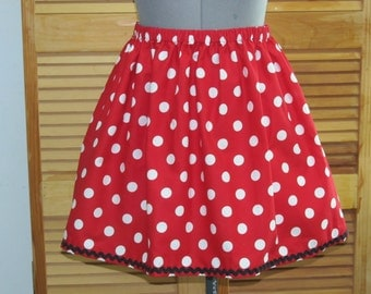 Minnie Mouse Skirt - Awesome for a Halloween Costume - Will ship out Monday Oct 24th