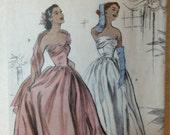 Butterick B4918 Evening Dress - Retro Butterick 1952 - Size 6-8-10-12
