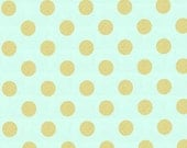 Quarter Dot Pearlized in Mist by Michael Miller Fabrics - 1 yard