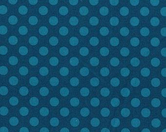 Michael Miller Fabric - 1 Yard Teal Ta Dot