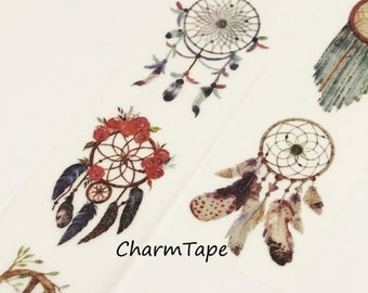 Feathers Dream catcher Big Washi Tape 30mm x 5 meters WT924
